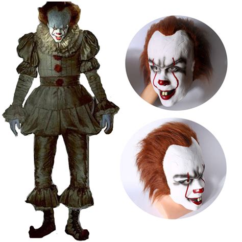 It Pennywise Clown Mask Costume scary clown costume promotion shop for promotional