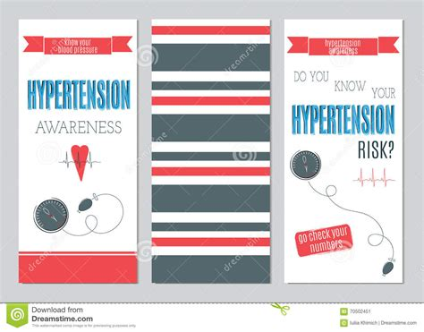 medicare card themed brochure templates hypertension day set of banners stock vector image 70502451