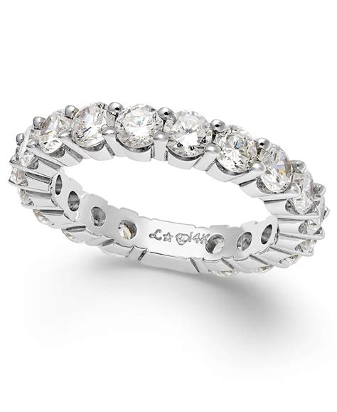 Eternity Band by Macy S Sizeable Eternity Band In 14k White Gold 2