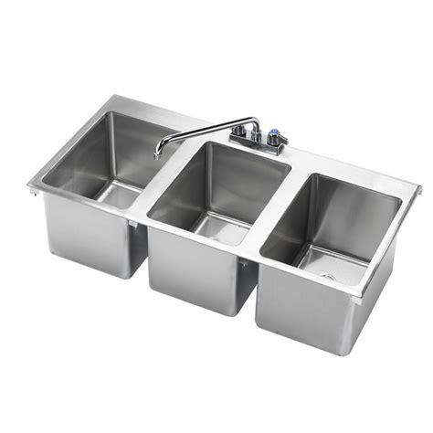 3 comp sink faucet 3 comp drop in sink sinks work tables