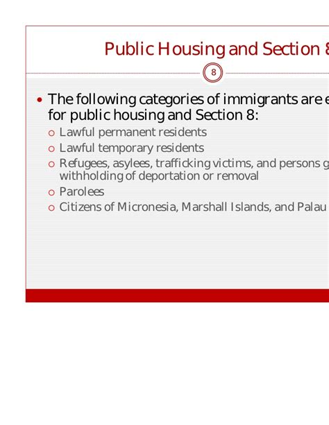 section 8 eligibility requirements 1 4 strategies for working with undocumented and refugee