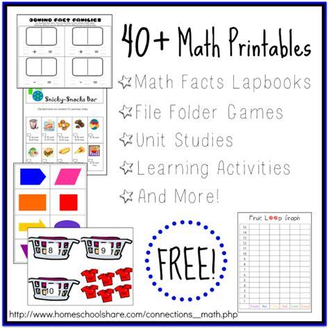 printable math worksheets homeschool 40 math printables and activities free homeschool deals
