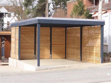 carport quot modernen design mit einer seitenverkleidung metal garage designs modern large the garages that