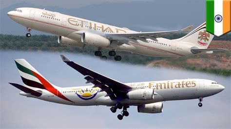emirates or etihad near mid air collision emirates and etihad jets almost