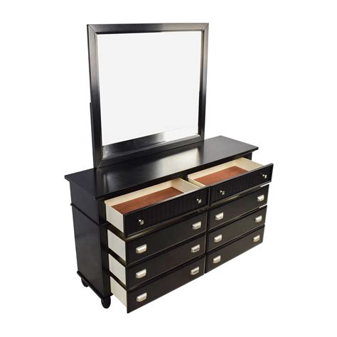 black dresser with mirror drawers 39 off black 8 drawer dresser with mirror storage