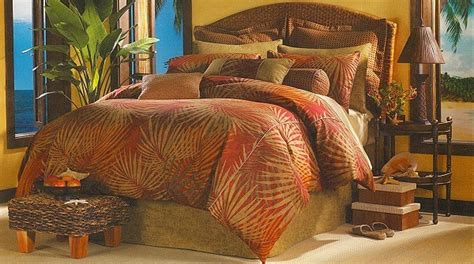 Palm Tree Bedding Sets 4pc Belize Palm Tree Tropical Cotton Comforter Set K Ebay