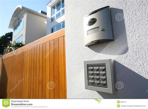 house call house call gate answer speaker stock photo image 666710