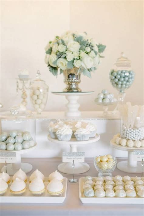 bridal shower dessert buffet ideas 2 i this all white dessert table great for a shower or