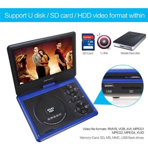 dvd player file format support amazon com dbpower portable dvd player 2 hours