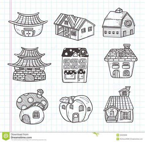 doodle house doodle house icon royalty free stock photos image 32629668