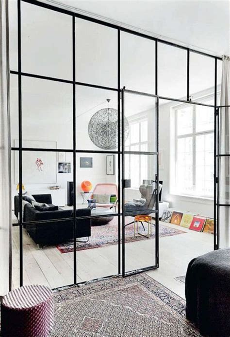 Glass Wall Room Divider Industrial Views The Potted Boxwood