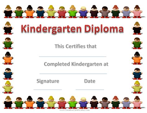 preschool graduation diploma template kindergarten graduation certificates
