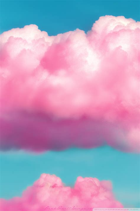 pink fluffy clouds  hd desktop wallpaper   ultra hd