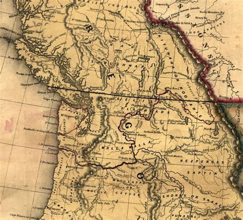 oregon country map 1846 what would vancouver be if the border wasn t at the 49th