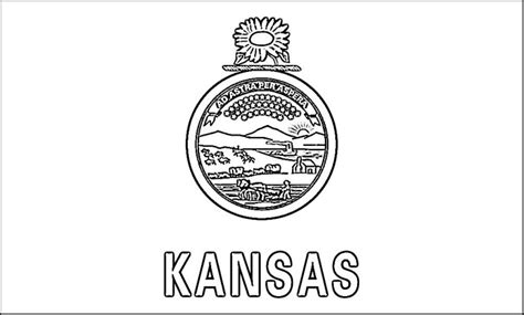 kansas flag coloring page purple kitty