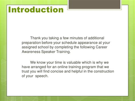 Thank You Letter Introduction guest speaker prep