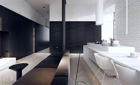 black n white house interior design black and white loft minimalist kitchen dream house
