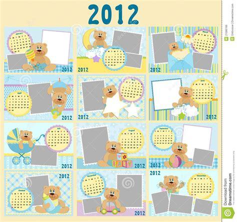 Calendario Bebe Calendario Mensual Beb 233 Para 2012 Imagen De Archivo