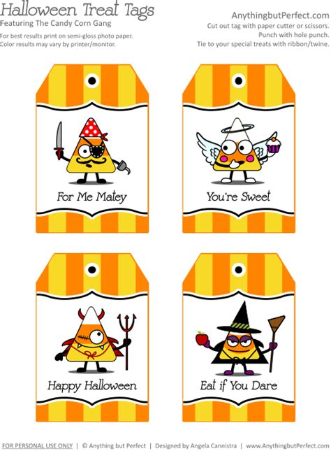 Free Printable Gift Tags For Halloween Treats | free halloween treat bag printables labels tags