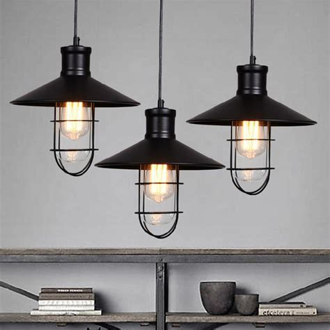 Black Rustic Pendant Lights Vintage Industrial Pendant Rustic Pendant Lighting For Kitchen