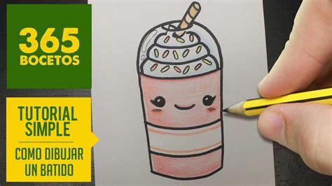 imagenes kawaii leche como dibujar un batido kawaii paso a paso dibujos kawaii