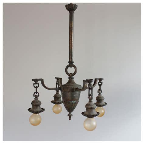 Light Fixtures Seattle Diy172 Brass 4 Light Ceiling Fixture Bogart Bremmer Bradley Antiques