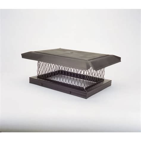 Fireplace Caps by Homesaver Pro 8 In X 17 In Base Black Galvanized Steel