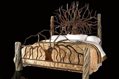 unusual king size headboards hand made custom king size metal bed by jf metal designs
