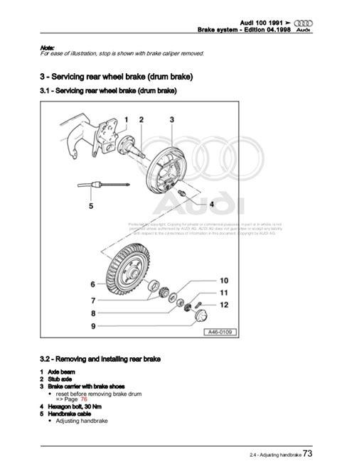 chilton car manuals free download 1991 audi 200 head up display service manual rear drum removal 1991 audi 100 1992 1994 audi 100 cs rear brake rotor pads