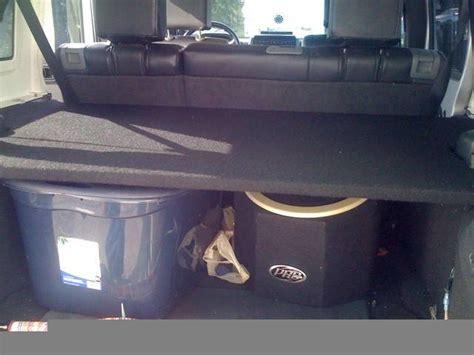 homemade jeep jeep jk unlimited rear cargo shelf diy expedition portal