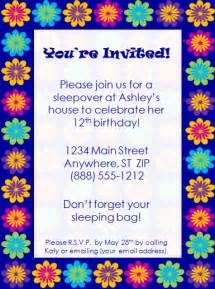 birthday invitations template colorful birthday invitation template