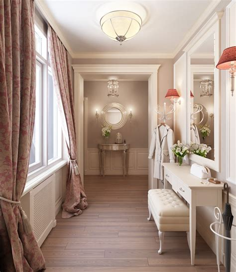 classy home interiors taditional feminine hallway dressing room interior