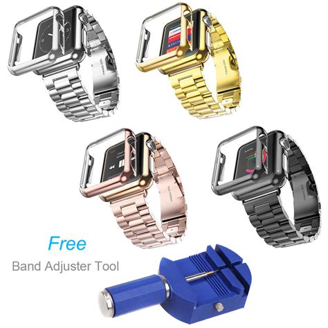 Mgslimfit Style Stainless Steel Band For Apple 38mm Ho T1310 Gold Plated Cover 316l Stainless Steel Band For