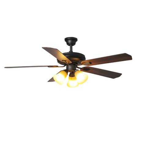 rubbed bronze ceiling fan light kit hton bay glendale 52 in led rubbed bronze ceiling