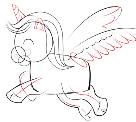how to draw chibi unicorns with easy step by