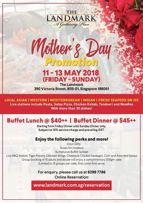 day restaurant promotions promotions landmark restaurant