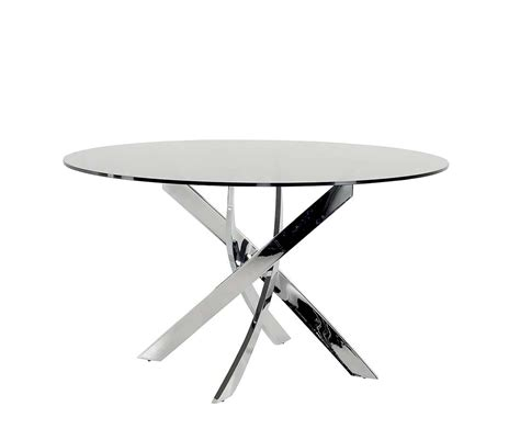 Modern Round Dining Room Sets Smoked Glass Round Dining Table Vg087 Modern Dining