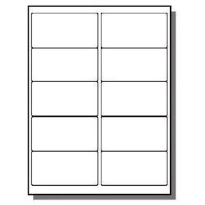 2 X 4 Label Template best photos of 10 labels per sheet template avery labels