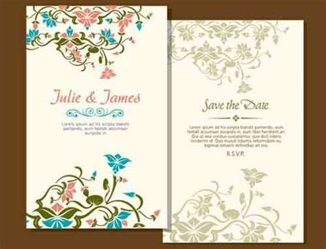 married card template wedding invitation card templates for your own designs