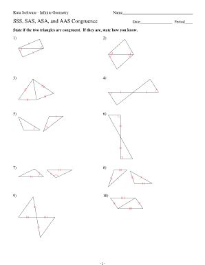 Sss Sas Aas Hl Worksheet by Kuta Software Infinite Geometry Answers Fill