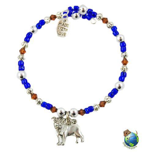 pug bracelet pug beaded charm bracelet silver handmade ebay