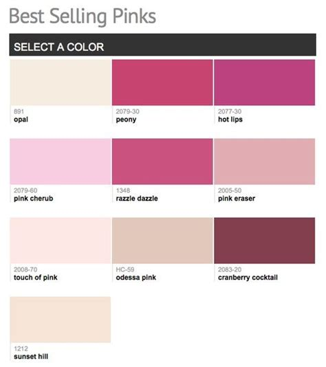 best selling paint best selling popular shades of pink paint colors from
