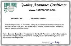 quality certificate template qa certificate