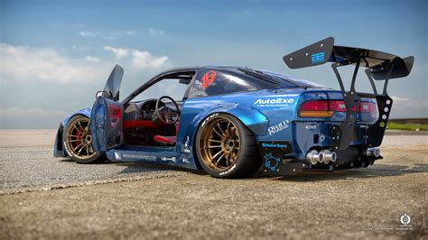 nissan brz rocket bunny rocket bunny 240sx blue by dangeruss on deviantart