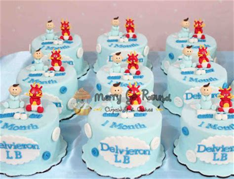 1 Month Baby Celebration - merry go cupcakes cakes baby one month