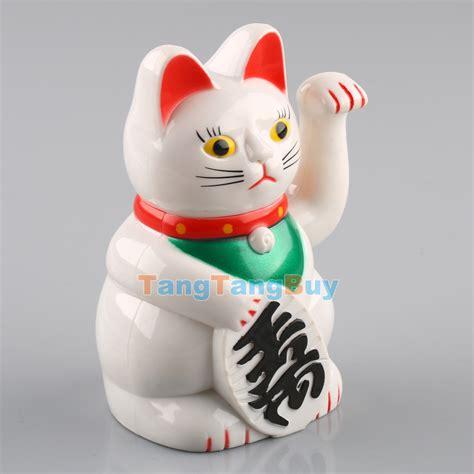cat with swinging arm white 5 quot swinging arm fortune cat maneki neko battery