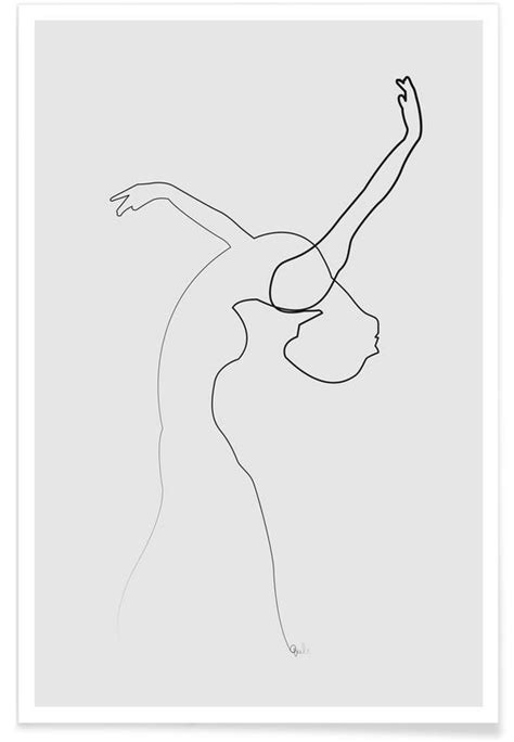 Dancer Line Drawing Poster | JUNIQE