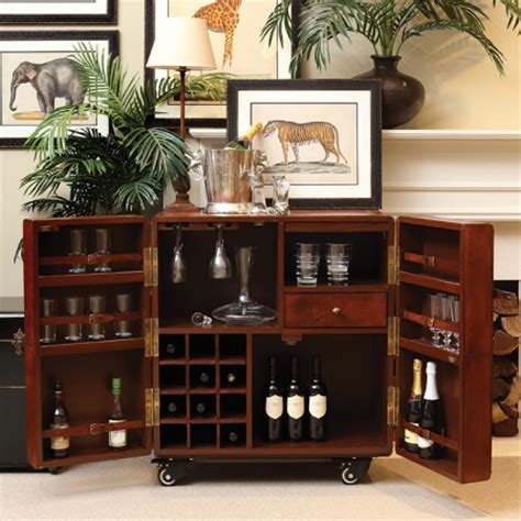 Leather Bar Cabinet Leather Bar Cabinet