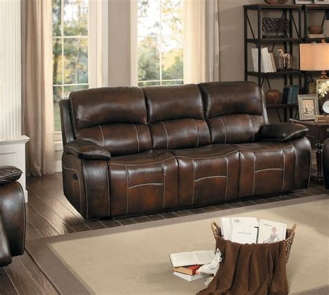 walker brown top grain leather power reclining sofa and loveseat homelegance mahala power reclining seat with