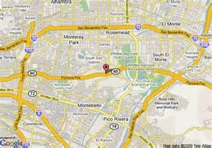 map of doubletree hotel los angeles rosemead montebello